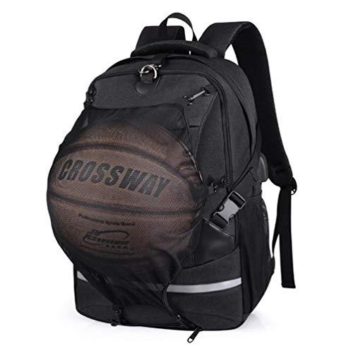 Basketball-Rucksack Große Sporttasche Laptop-Rucksack, Mit USB-Ladeanschluss for Schwimmen, Outdoor, Fußball, Volleyball, Fitness, Reisen, Business Anti Theft Slim Durable Ruckpack