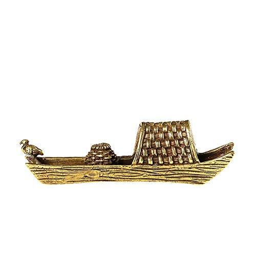 Fashion158 Antik Kupfer Markise Boot Zen Duft-Einsatz Ornamente Kupfer geschnitzt Tee Zeremonie Linie Weihrauch Sockel Wenfang Zhen Papiergriff Kupfer