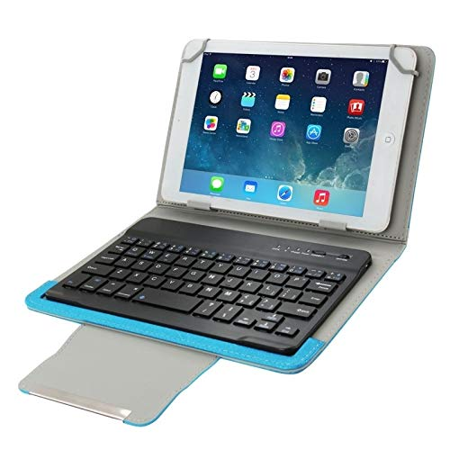 GGQQ YDYX AYDD Universal Leather Case with Separable Bluetooth Keyboard and Holder for 7 inch Tablet PC (Color : Blue)