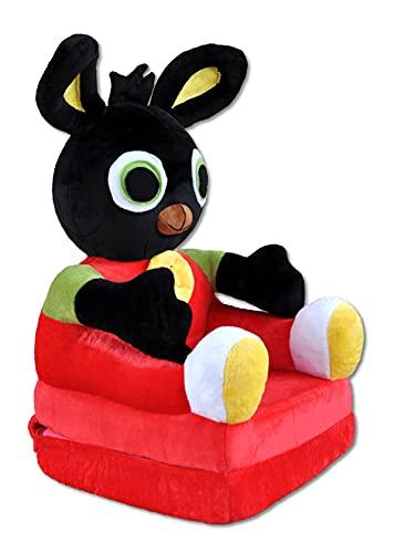 Bambi® Poltrona, poltroncina apribile, divanetto per bambini in morbido peluche. Divano e giocattolo Ping.