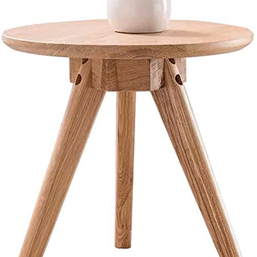 Mesa auxiliar del sofá, Mesitas de café Mesa de madera redonda de madera de madera natural Color moderno Decoración del hogar Café Tea Tea Final de la mesa para la sala de estar, dormitorio y balcón T