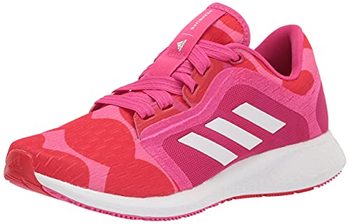 adidas Women's Edge Lux 4 x Marimekko Running Shoe, Team Real Magenta/White/Vivid Red, 8