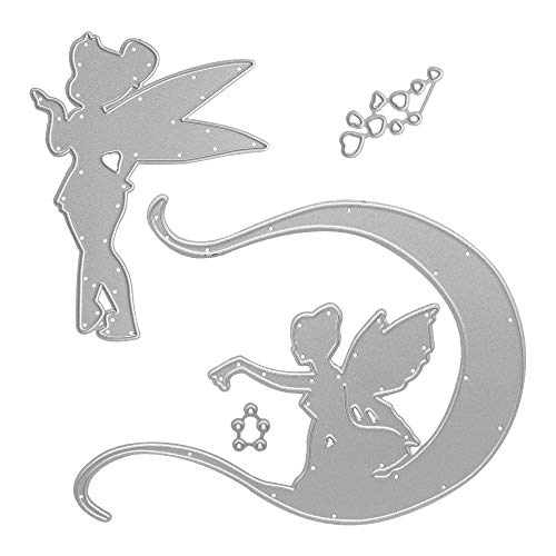 Metal Beautiful Angel with Wings Cutting Dies,Fairy with Wings Die Cuts Embossing Stencils Template Mould for Card Scrapbooking and DIY Craft