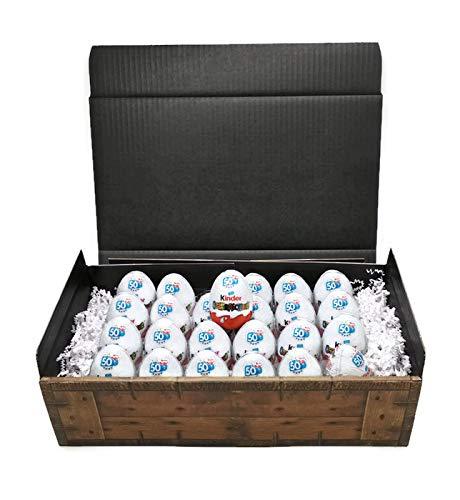 Kinder Ãœberraschung - 24 Eier in Geschenkkarton Mit Schatzkisten Optik