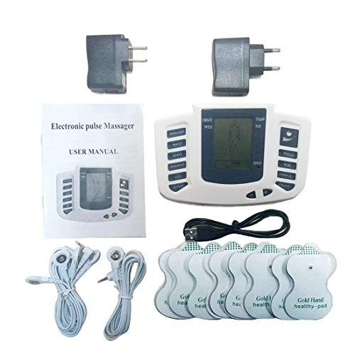 Electrodos Para Tens Gimnasia Pasiva TENS Masajeador Estimulador De Pulsos ElectroestimulacióN Con Electrodos Fisioterapia Para El Alivio Del Dolor Tratamiento Del Dolor Espalda