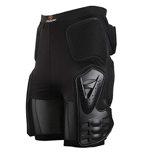 Riding Armor Pants Skating Protective Armour Skiing Snowboards Mountain Bike Cycling Cycle Shorts (L (35' T0 38' Waist)) Black