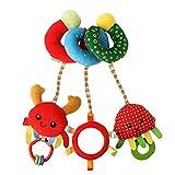 Junxcj Spirale Spielzeug Baby, Activity Spirale Spielzeug mit Spiegel, Activity Spirale Kinderwagen...