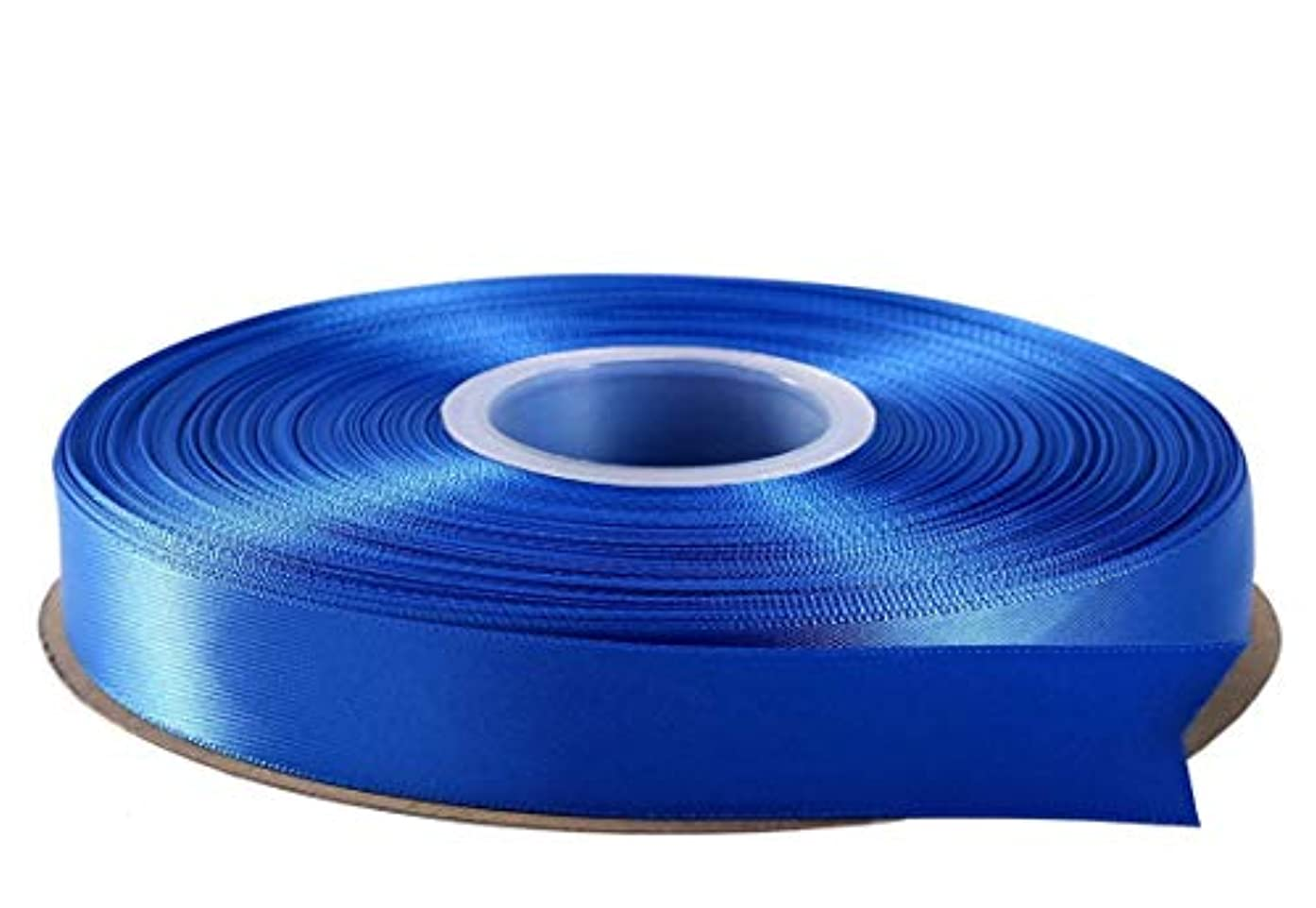 Duoqu 1/2 inch Wide Double Face Solid Satin Ribbon 50 Yards Roll Multiple Colors (Royal)