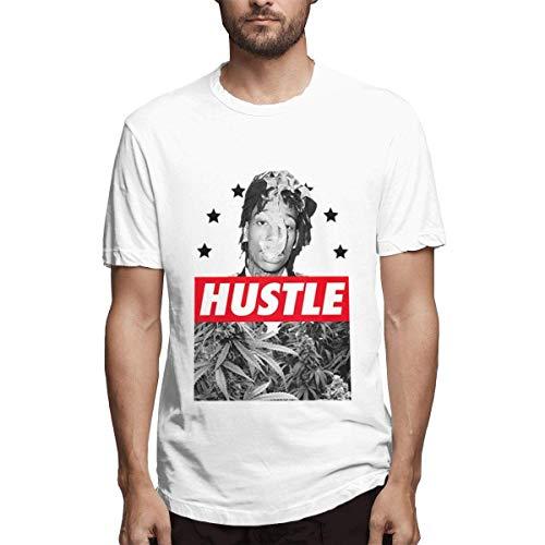 Camisetas Blancas Transpirables para Hombre Wiz Khalifa Snoop Dogg Dope Ganja Weed Gras Bong Design,S