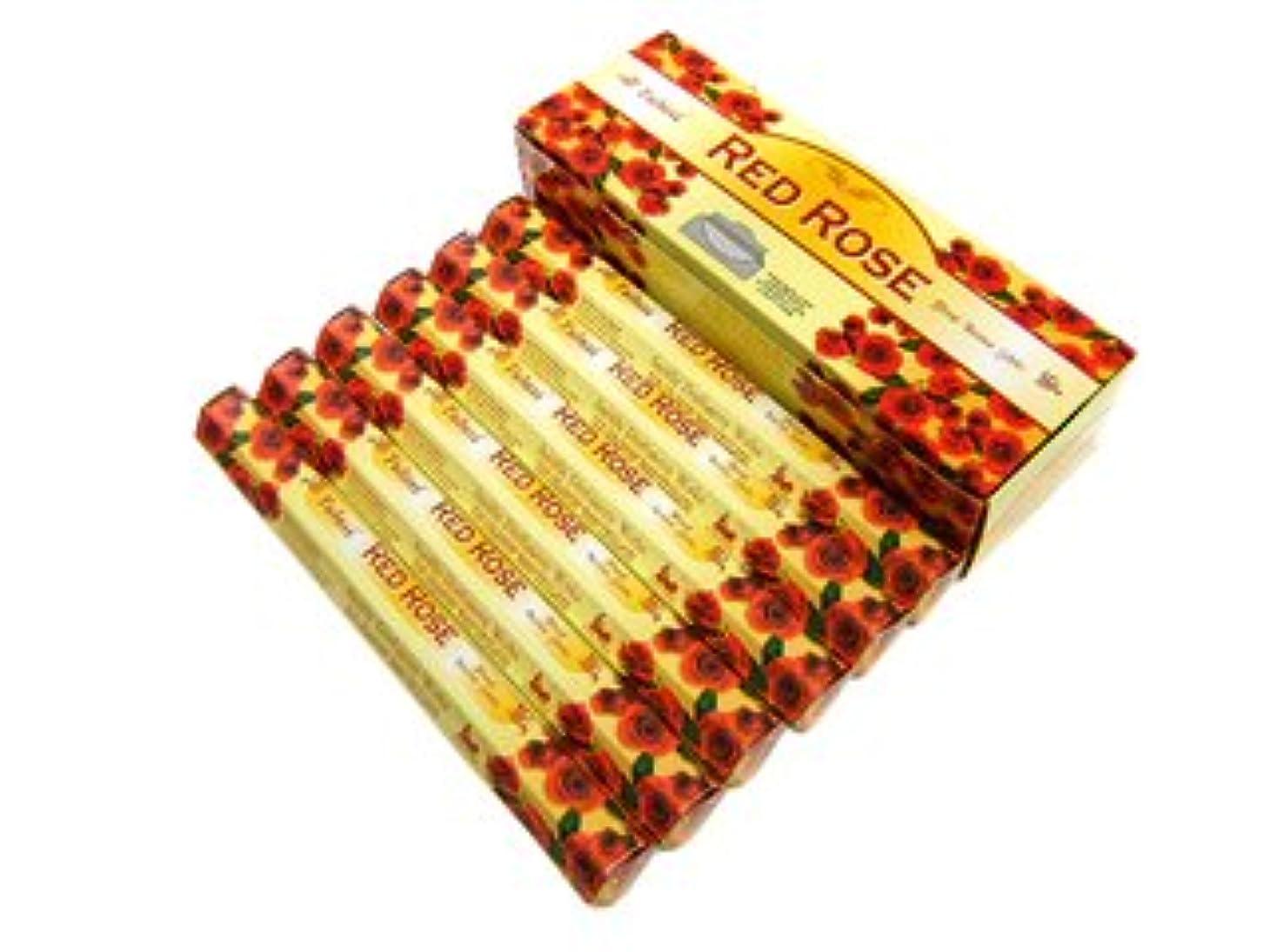 補充化合物すりTULASI(トゥラシ) レッドローズ香 スティック RED ROSE 6箱セット