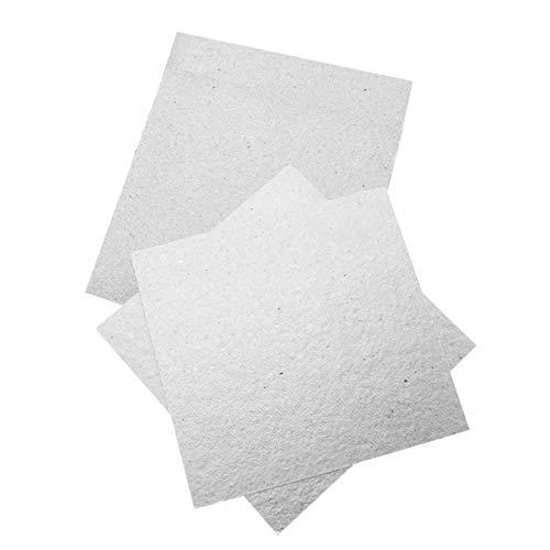Cabilock 4 Piezas Placas de Mica Hojas Cubierta de Guía de Onda Piezas de Repuesto de Horno Microondas Eléctrico 13 X 13 Cm