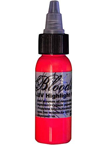 Bloodline UV Blacklight Colors Tattoo Ink - UV Pink - 1/2oz