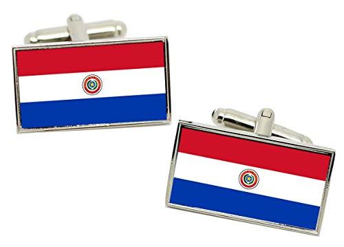 Giftshop UK Paraguay Flagge Manschettenknöpfe IN Box
