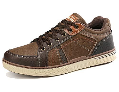 ARRIGO BELLO Zapatos Hombre Vestir Casual Zapatillas Deportivas Transpirables Gimnasio Correr Running Sneakers Al Aire Libre Tamaño 41-46 (1Marrón, Numeric_41)
