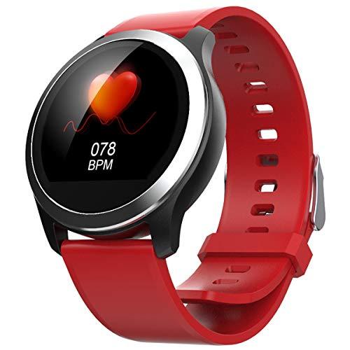 Smartwatch Fitness Tracker Armbanduhr Schrittzähler Herzfrequenzmesser Schlafüberwachung Wasserdicht Blutdruck Herren Damen Uhr