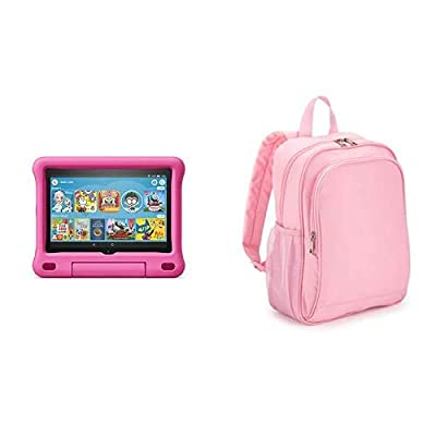 Fire HD 8 Kids Tablet 32GB Pink with Made for Amazon Kids Tablet Backpack, Pink from