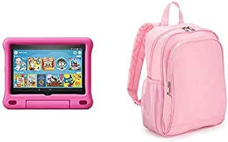 Fire HD 8 Kids Tablet 32GB Pink with Made for Amazon Kids Tablet Backpack, Pink