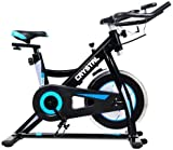 PRO Indoor Studio Cycle <span class='highlight'>Bike</span> <span class='highlight'>Exercise</span> Machine For Spin Cycling Home Cardio Fitness Adjustable <span class='highlight'>Bike</span> - Black/Blue *THE WINNER 2020