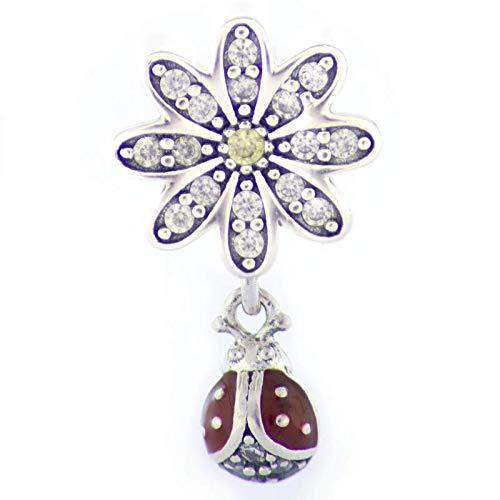 EVM Charm – Mariquita & Amor compatibles con pulsera Pandora, Plata de ley 925, regalo para ella, con caja de regalo, con circonita cúbica, regalo para mujer