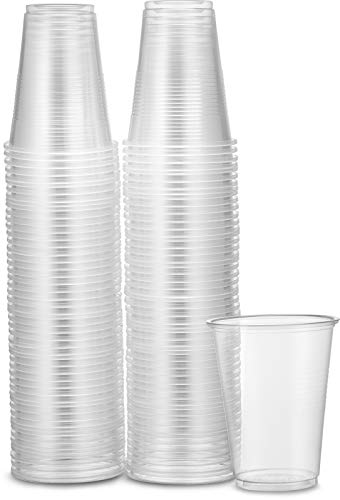 Plasticpro 7 oz Clear Plastic Disposable Drinking Cups [100 count]