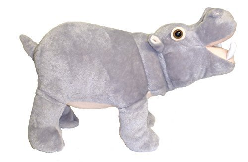 "Adore 14"" Standing Farting Hippo Plush Stuffed Animal Toy"