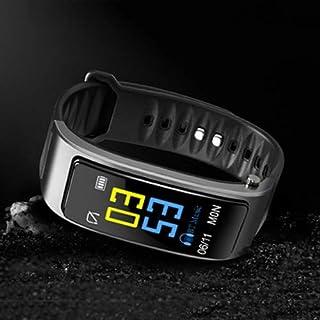 Zomeber Rastreador de Ejercicios Relojes Inteligentes Pulsera de los Deportes Screen Display Bluetooth 4.1 Auriculares + Pulsera Inteligente, Soporte podómetro 0,96 Pulgadas (Negro)