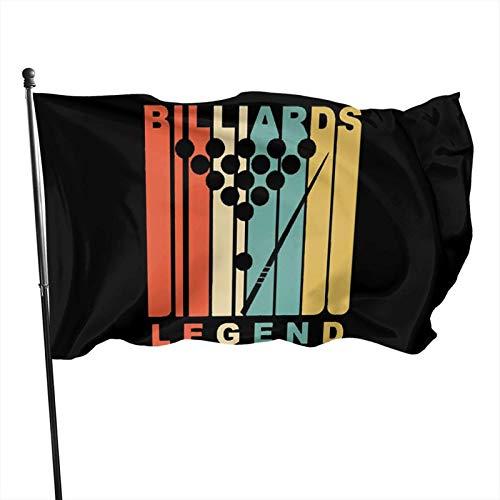 Hdadwy Vintage Style Retro Style Billard Flagge 3x5 Ft Garten Flagge, verwendet für Party Dekoration, Innendekoration, Parade, Feier