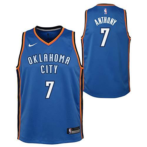 Carmelo Anthony Oklahoma City Thunder NBA Nike Youth Blue Icon Swingman Jersey