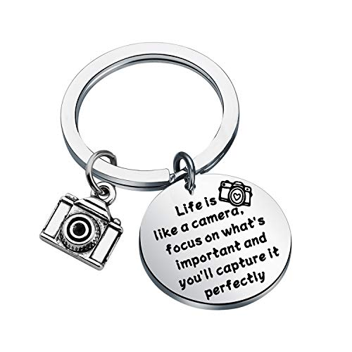 Camera charm keychain