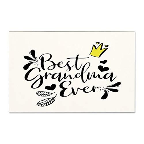 Cartello in legno con scritta 'Best Grandma Ever Housewarming' (lingua italiana non garantita), cartello in legno con scritta in lingua inglese 'Homeowns', 25,5 x 45,5 cm