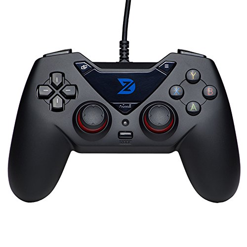 ZD-C Wired Gaming Controller USB Gamepad for PC(Windows XP/7/8/10) & Playstation 3 & Android & Steam (C-Black)