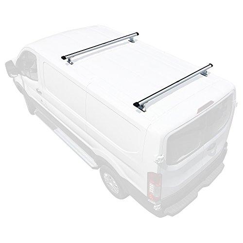 Vantech H3 2-Bar Aluminum Rack System Fits: Ford Transit Cargo 2015-On White