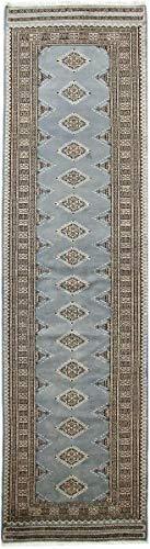 Nain Trading Pakistan Buchara 3ply 290x80 Orientteppich Teppich Läufer Grau Handgeknüpft Pakistan
