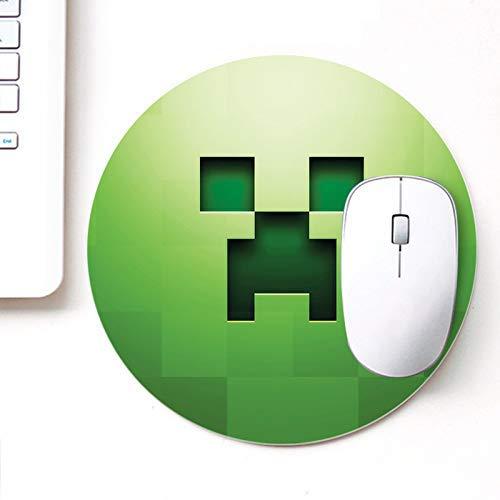 Designer bedrucktes rundes Mauspad für Laptop n Computer Green Minecraft | Rundes Mauspad | Mousepad für Gamer | Gaming Mousepads