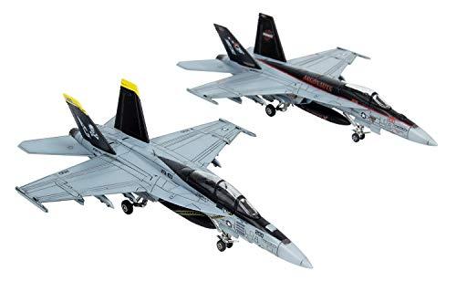 プラッツ 1/144 アメリカ軍 F/A-18E スーパーホーネット 複座型 2機セット プラモデル AE144-2