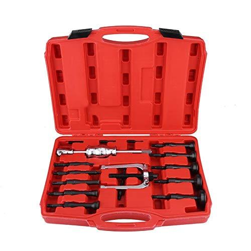 WQAZ Kit de Herramientas 16 PCS Coche Interior Desmonte el rodamiento Cojinete Cepillo Removedor Extractor Extractor Juego Juego de arbustos Conjunto de Herramientas