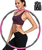 Hula Hoop Reifen, Fitness Hula Hoop zur Gewichtsreduktion und Massage, 6-8 Segmente Abnehmbarer Hoola Hoop für Erwachsene & Kinder (Rosa)