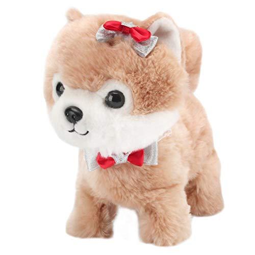 humflour Elektronischer Hund, Plüsch Interaktives Spielzeug Mit Sprechender Wiederholung Mit Fernbedienung Leine, Geschenk Spielzeug Für Kinder (A)
