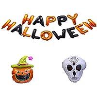 Lightahead Set of 3 Halloween Balloons Pumpkin, Ghost and Happy Halloween Letters