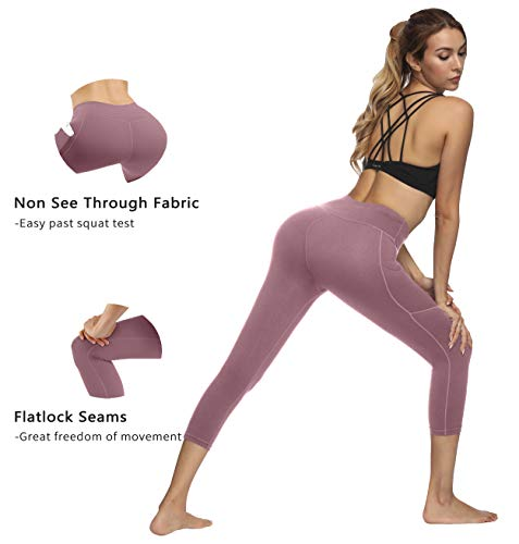 Fengbay Capris Leggings, Capris Yoga Pants Tummy Control Workout Running 4 Way Stretch High Waist Capris Workout Leggings