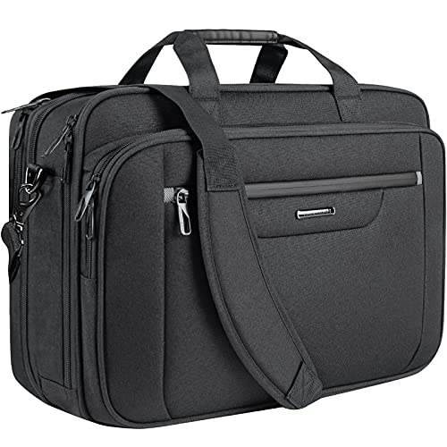 VANKEAN Laptop Briefcase Fits Up to 18 Inch Laptops XXL Water-Repellent Gaming Computer Bag Messenger Shoulder Bag for Men and Women Expandable Capacity Laptop Bag for Travel/ Business/ School- Black