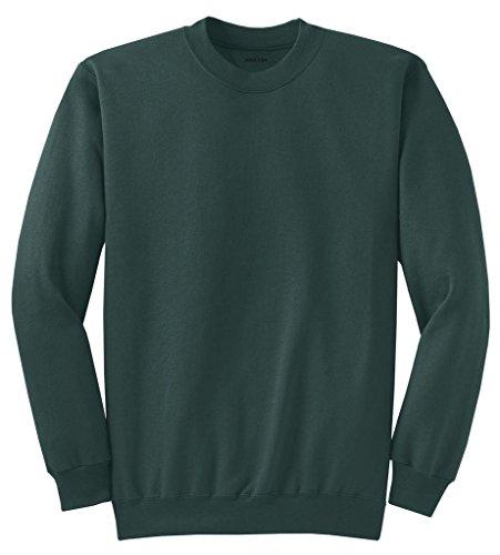 Joe's USA- Men's Tall Ultimate Crewneck Sweatshirt-Dark Green-XLT