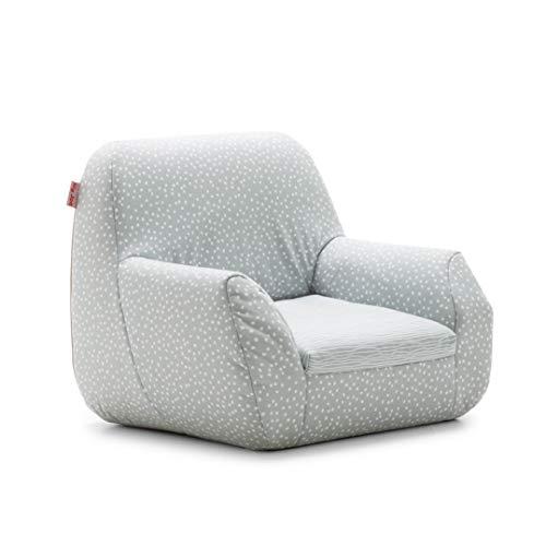 Big Joe 1596687 Mid Mod, Lenox Gray Stripes and Dots Kid's Chair