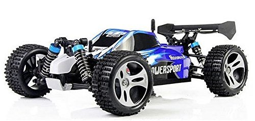 Wltoys A959 Vortex 1/18 2.4G 4WD Electric RC Auto off-Road Sospensione Indipendente Buggy RTR-Blue