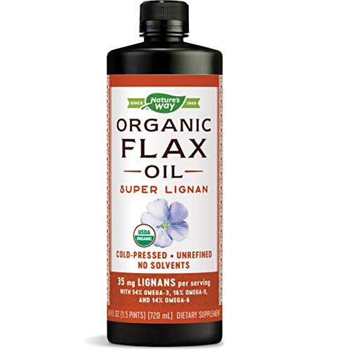 Nature's Way EfaGold Organic Flax Oil Super Lignan, 35 mg per serving, 24 Ounce