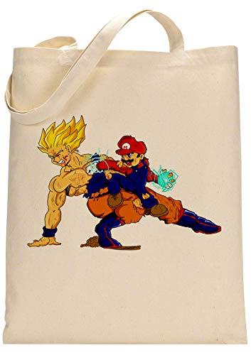 Dragon Ball Mario Beats Goku Fan Custom Made Tote Bag