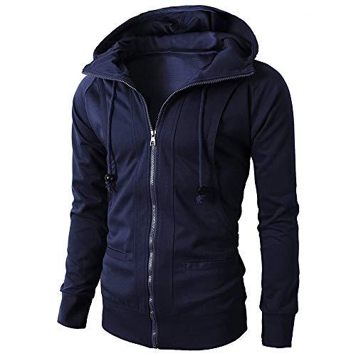TEBAISE Mode Winter Mantel Sweatshirt Men Oversized Warm Sweater Kühl Slim Fit Jacke Herren Jacke Coat Y-Marine 48 DE/M CN