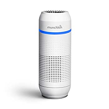 Munchkin Portable Air Purifier 4-Stage True HEPA Filtration System Eliminates 99.7% of Micro-Pollutants