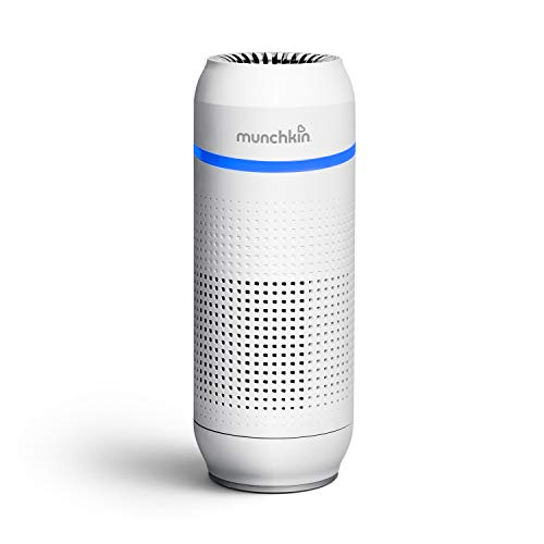 Munchkin Portable Air Purifier, 4-Stage True HEPA Filtration System Eliminates 99.7% of...