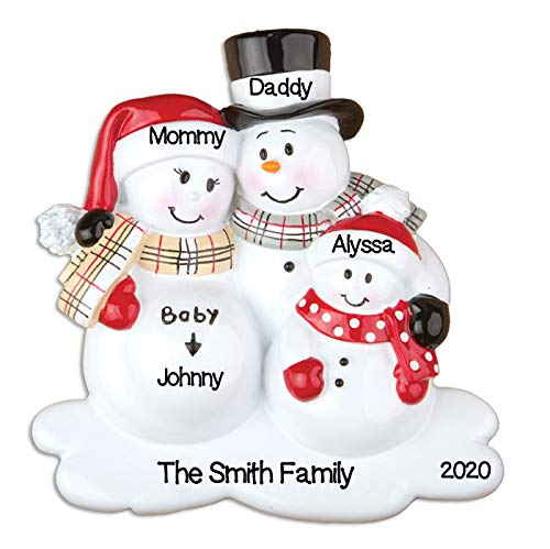 Grantwood Technology Personalized Christmas Ornaments Baby's First-We're Expecting W/1 Child/Personalized by Santa/Personalized Pregnancy Christmas Ornaments/Personalized Expecting Baby Ornaments